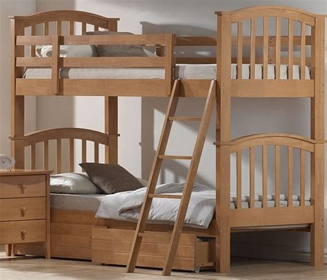 Maple Bunk Bed Joseph Wooden Maple 3ft Bunk Bed With Underbed Storage Ebay