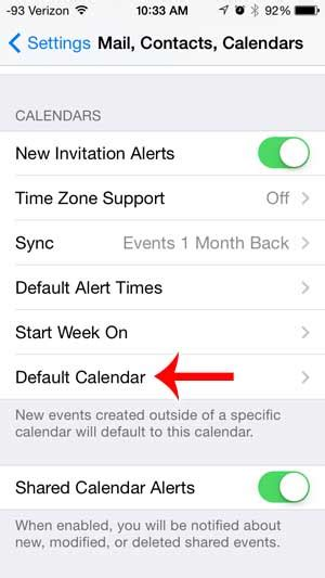 set calendar as default on iphone how to change the default calendar on the iphone 5 solve