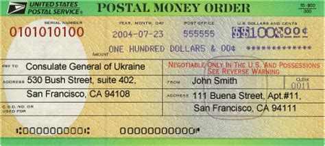 Money Order From Post Office by Use The Quot Contact Us Quot Form For More Information