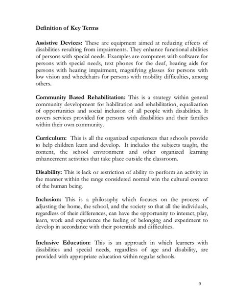 thesis statement about special education special education personal philosophy statement
