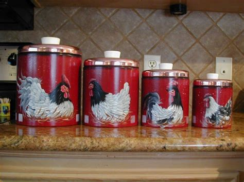 set of 3 rooster canisters country kitchen accent home 133 best images about rooster canisters on pinterest set