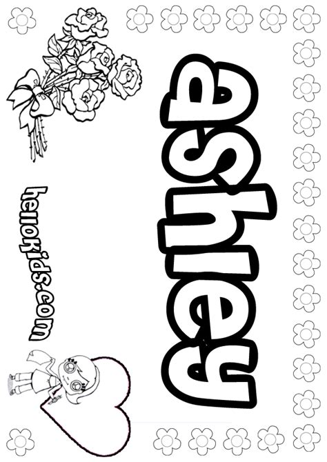 coloring pages girls names az coloring pages