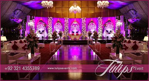 Indian Wedding Home Decoration Plum Gold Wedding Reception Tulips Event Management