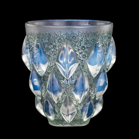 Lalique Vases Antique by Antique 20thc Rene Lalique Rillion Opalescent
