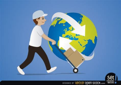 Free Delivery The Earth delivery with planet earth vector free