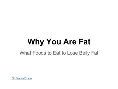 what foods to eat to lose belly
