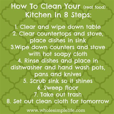 How To Clean Your Kitchen In 8 Simple Steps   minimalism anxiety mindset motherhood