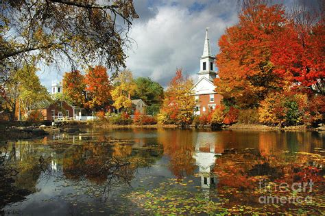 harrisville new hshire new england fall landscape white steeple photograph by jon holiday