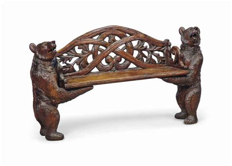 black forest bear bench a swiss black forest bear hall bench circa 1900 christie s