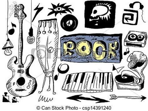 doodle god 2 rock n roll doodle rock stock illustration instant