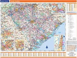 wall map of carolina rand mcnally south carolina map one map place inc