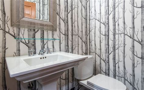 designer bathroom wallpaper nature depicted on your walls birch tree wallpaper