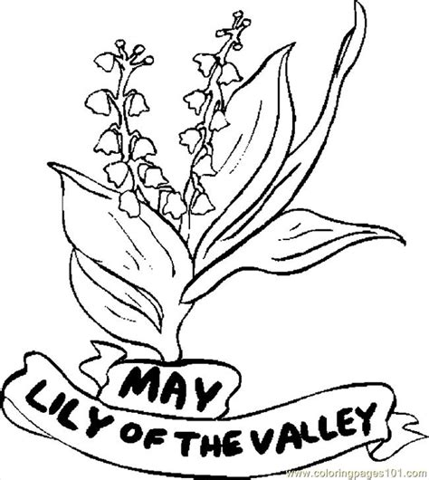 05 may lily of valley 1 printable coloring page for kids