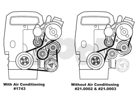 volvo auxiliary serpentine drive belt  models  air conditioning