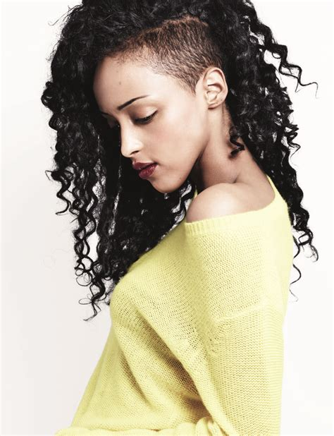 how to style a sidecut 25 best ideas about undercut curly hair on pinterest