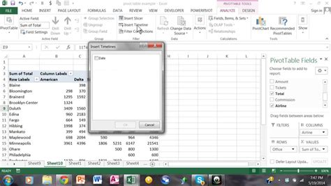 tutorial youtube excel 2013 using a timeline in excel 2013 pivot tables excel 2016