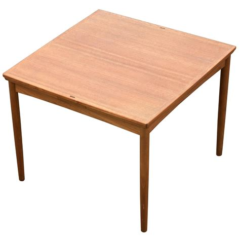 Square Card Table by Square Teak Flip Top Card Table With Leaves For