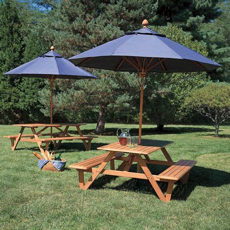 picnic table with umbrella teak wood picnic table with umbrella larchmont