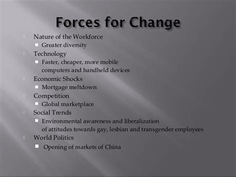 Mba In Organizational Change by Mba I Ob U 4 3 Organization Change