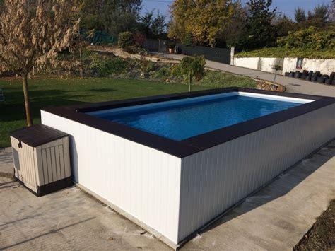 rivestimento in legno per piscine fuori terra piscina fuori terra su misura con rivestimento in wpc