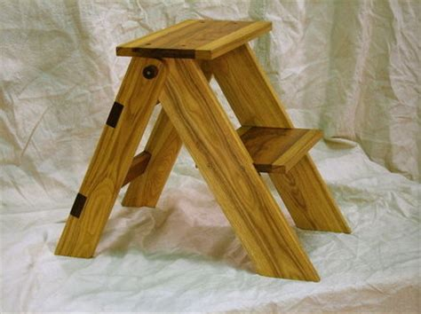 woodwork folding wooden step stool plans  plans