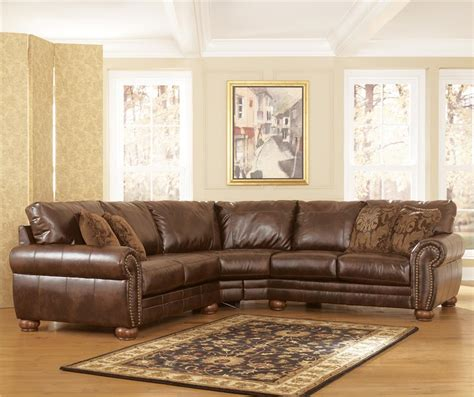 ashley durablend antique sofa durablend antique stationary sofa sectional by signature