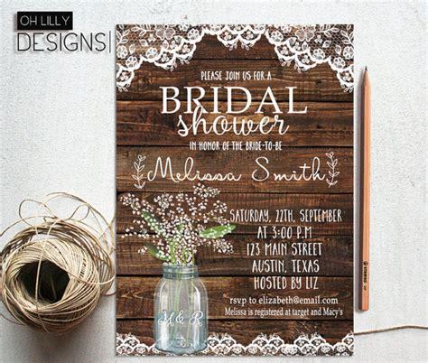 rustic bridal shower invitations ideas  pinterest bridal shower rustic bridal