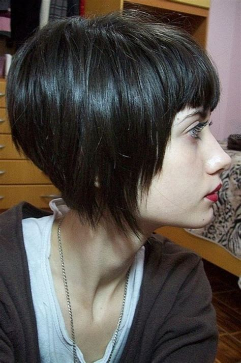 fixing bad angled bob haircut angled bob with bangs edgy short hair pinterest