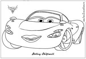 cars 2 holly colouring pages