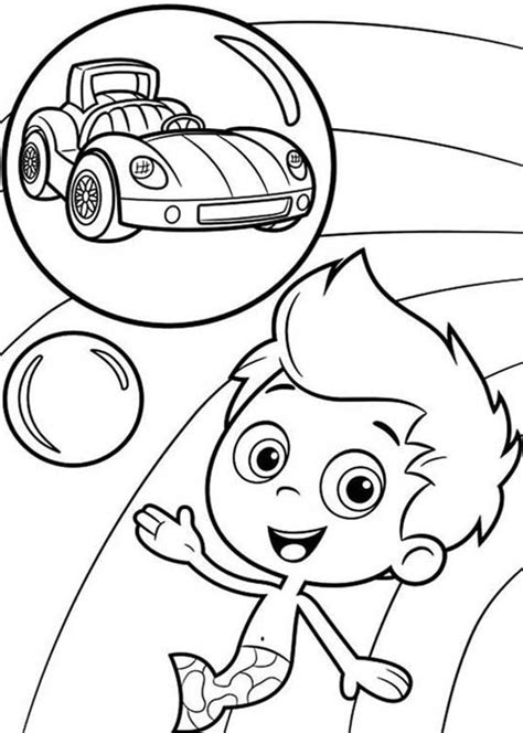 Bubble Guppies Gil Coloring Page Want To Have A Car In Gil Guppies Coloring