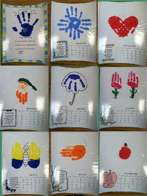 2016 handprint calendar kids calendar template 2016