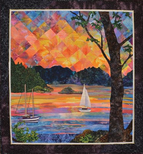 1000 ideas about landscape quilts on quilts