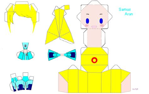 samus chibi papercraft by umbra on deviantart