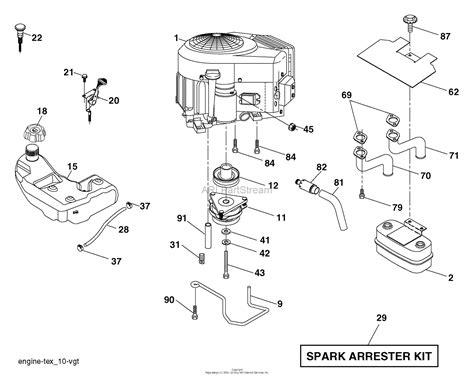 husqvarna yth      parts diagram  engine