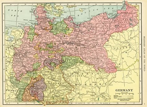 free map of germany historical map of germany free vintage image