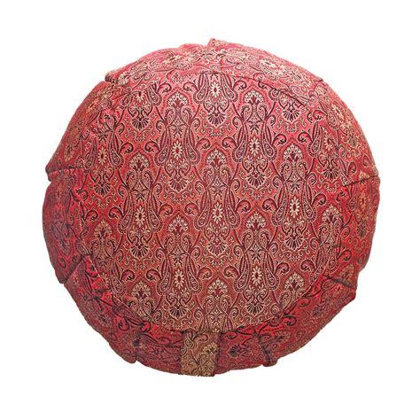 sari pattern zafu meditation cushion silk sari zafu meditation cushion with carry all yoga bag