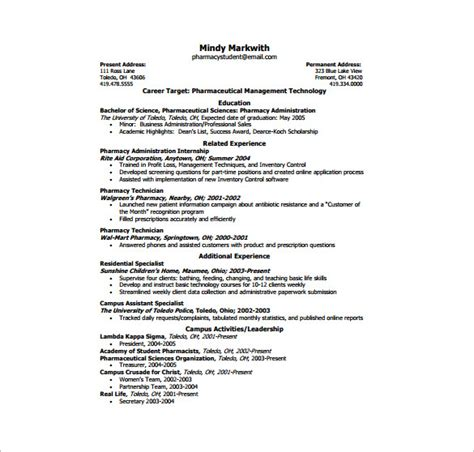 Single Page Resume Template by One Page Resume Template 12 Free Word Excel Pdf