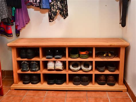 shoe storage cubbie get rid of mess in the entryway buy a shoe cubby bench