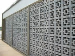 Decorating Concrete Block Walls Modern Mid Century Decorative Concrete Blocks