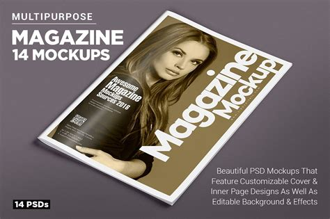 ideas mag free version 14 magazine mockups vol 7 product mockups creative market