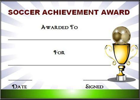 soccer award certificate template editable soccer award certificate templates free