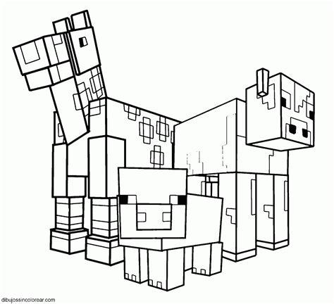 imagenes de minecraft a blanco y negro dibujos de minecraft para colorear