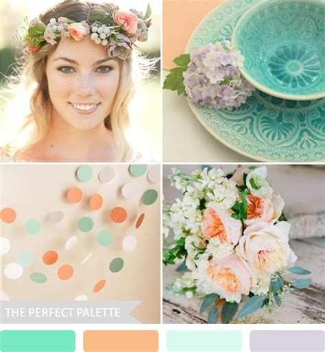 party palette turquoise wedding and peach party