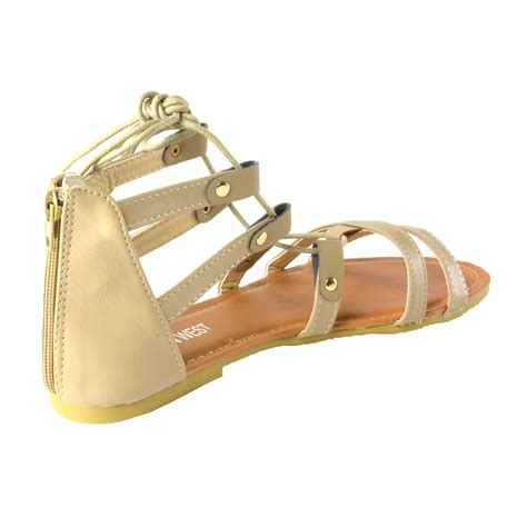 Repeat Trend Gladiator Sandals Also Pockets by S Lace Up Ankle Tie Back Zip Open Toe Strappy