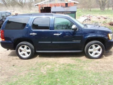 all car manuals free 2007 chevrolet tahoe user handbook purchase used 2007 chevy tahoe ltz 4x4 in leslie michigan united states for us 19 900 00