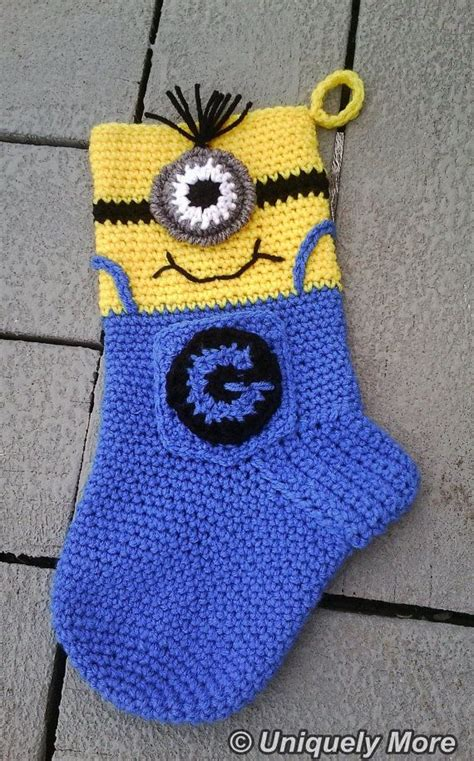crochet pattern for minion christmas stocking scientist person stocking crochet pattern instant download