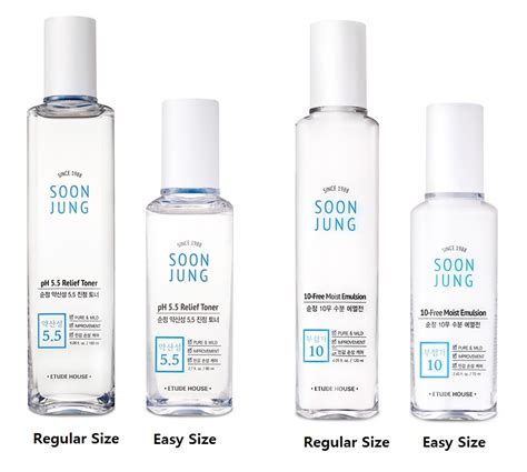 Etude House Soon Jung 10 Free Moist Emulsion Mini Size etude house soonjung 10 free moist emulsion ph 5 5 relief toner