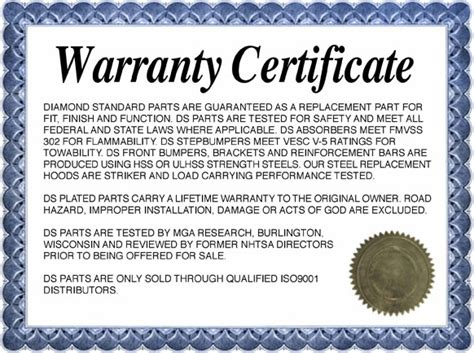 Guarantee Card Template by Warranty Certificate Template Card Certificate Templates