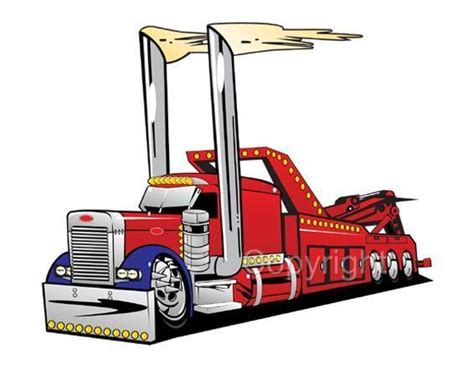 wrecker tow truck mens tshirt 1037 big rig peterbilt