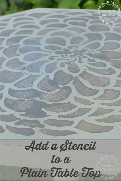25 best ideas about stencil table on